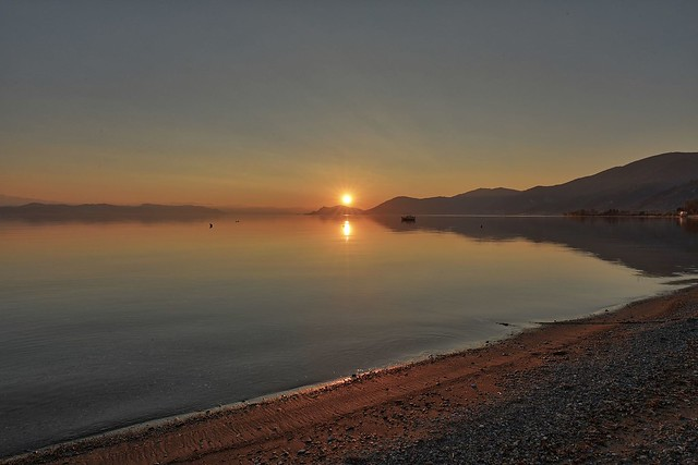 sunset in Rovies - island Eubea