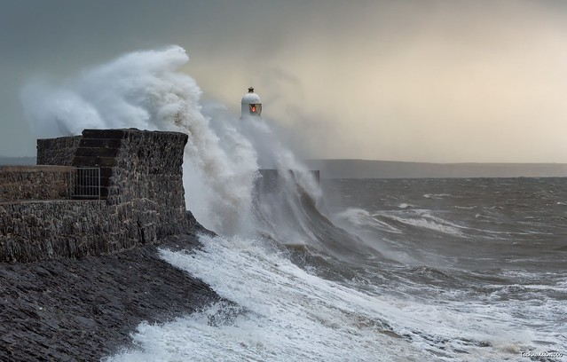 Strong winds bring crushing waves