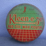 Wed, 2019-01-23 00:26 - Vintage 1930's Kleen-e-ze Red Tile Wax Polish Advertising Tin