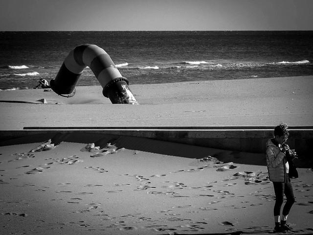 La plage d'octobre