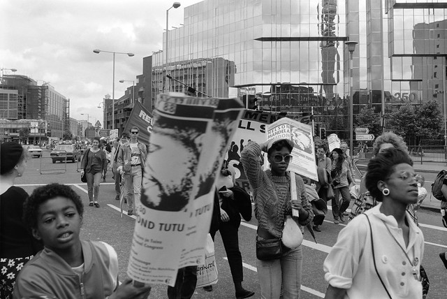 Free Nelson Mandela - Birthday March and Rally - London 1988 88-7h-54
