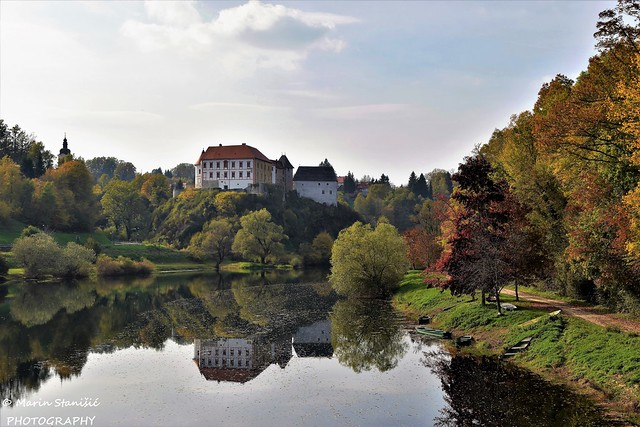 Ozalj, Croatia - Autumn on river Kupa in Ozalj...