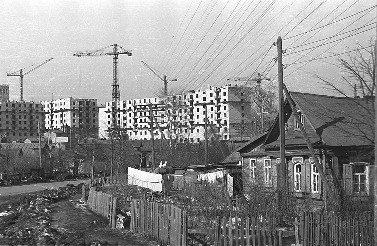 1957-1958. Юго-западный район. Старое Калужское шоссе (село Семеновское)