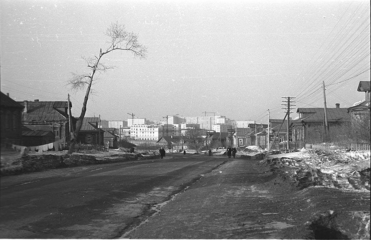 1957-1958. Юго-запад наступает. Строительство Ломоносовского проспекта. Старое Калужское шоссе, (село Семеновское) (2)