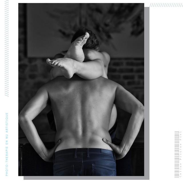 Notre première séance en duo devant un photographe, sa première séance tout court : nous par Io Illy