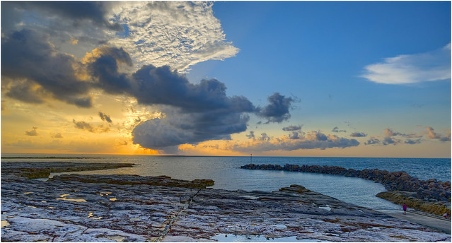 After the storm has passed - sunset from Nightcliff Boatharbour, Darwin Harbour, NT, Australia - Part 1