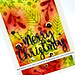 Merry Christmas card closeup