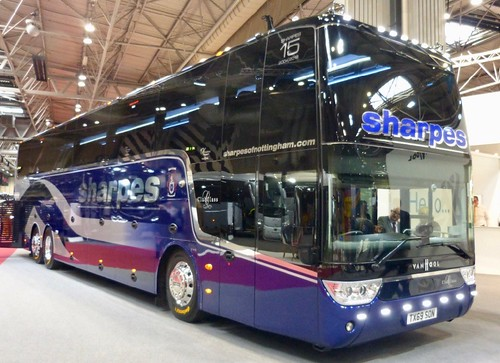 TX69 SON 'sharpesofnottingham.com' club class. VANHOOL TDX21 Altano on Dennis Basford's railsroadsrunways.blogspot.co.uk'