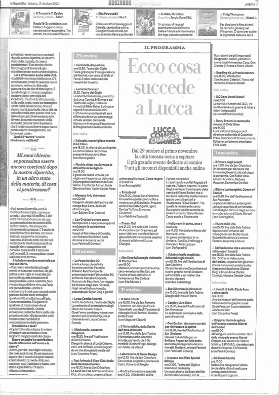 cosa accadrà a Lucca Changes