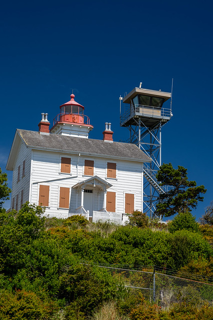 Yaquina Bay Lighthouse in Newport Oregon