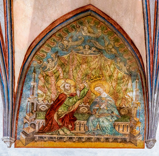 Malbork Castle: interior architecture and murals within the castle, Malbork, Poland.  093-Edita | by Yasu Torigoe