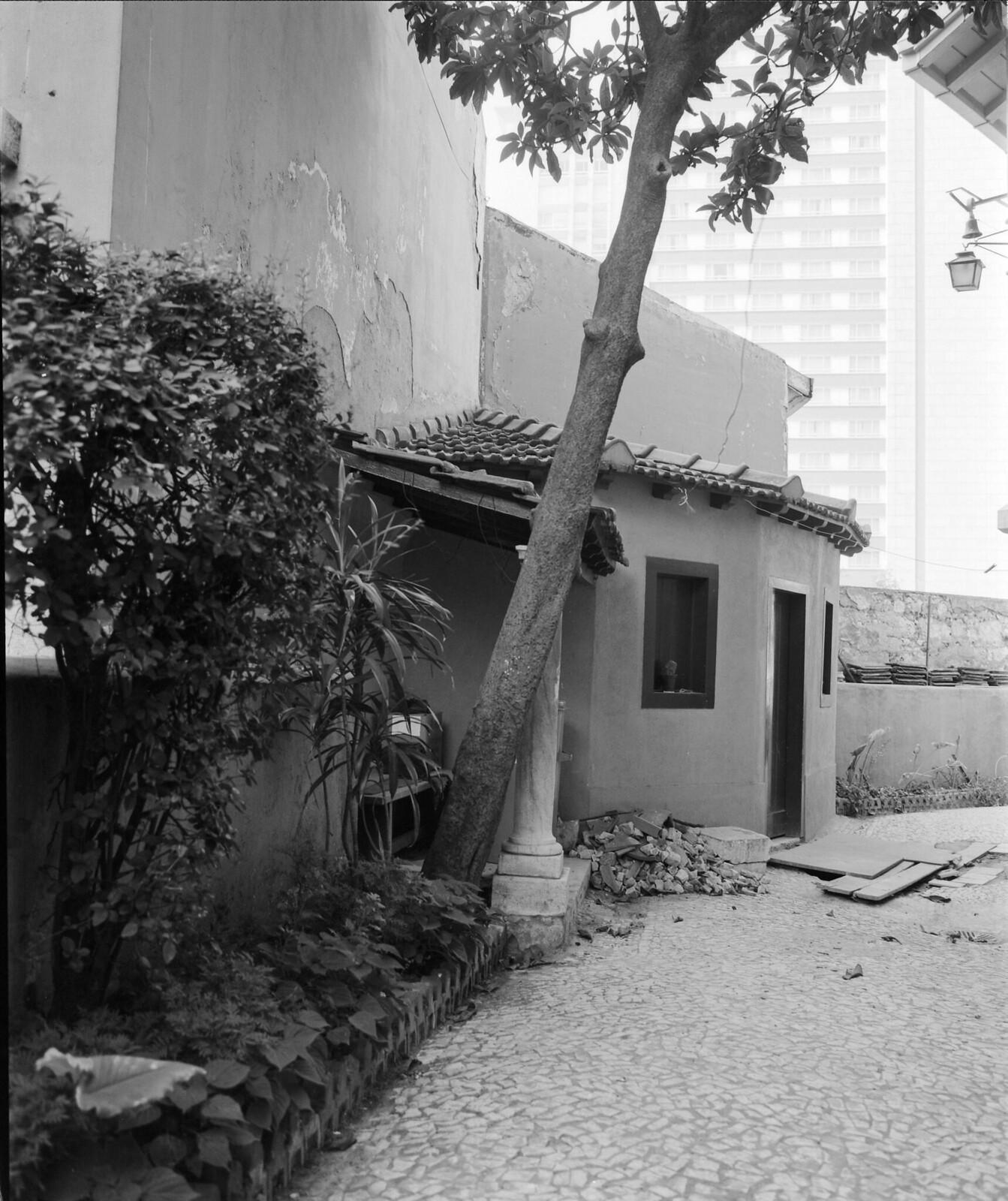 Pátio da casa-museu do Dr. Anastácio Gonçalves, Av. Cinco de Outubro, Lisboa (M. Novais, post 1971)