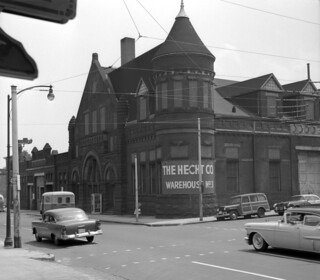 US MD Baltimore BTC power house Druid Hill Ave at Retreat St 1950s Walter Hulseweder photo