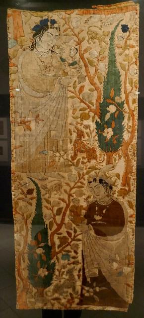 Fragment de tissu, début XVIIe, Iran, collection  David, Kronprinsessegade, Amalienborg, Copenhague, Danemark.
