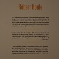 Robert Houle didactic In Memoriam