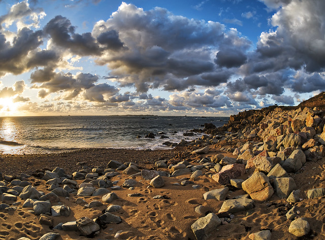 Clonque Bay, Alderney - Fisheye