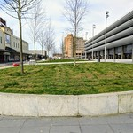 Flower bed  near the Preston Bus Station