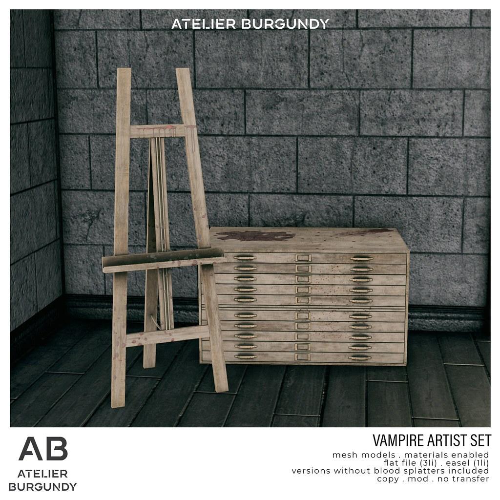 Atelier Burgundy . Vampire Artist Set