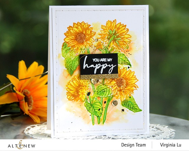 Altenew-Paint-a-Flower-Sunflowers-Woodless Color Pencils-StringArt Die Set-001