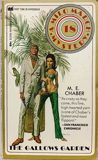 """""""The Gallows Garden"""" by M.E. Chaber.  Milo March Mystery 18.  Paperback Library 63-549 (March 1971). First printing.  Cover art by Robert McGinnis"""