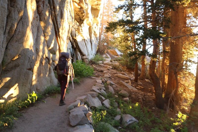 The sun keeps getting brighter as we head down the NF Big Pine Creek Trail toward Second Lake