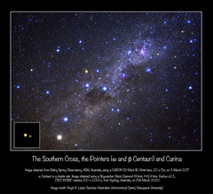 The Southern Cross, the Pointers (alpha and beta Centauri) and Carina