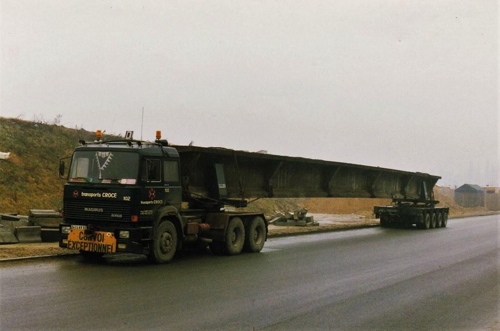 Iveco - Magirus 320-36 6x4 Transports Crocé Créteil (94 Val de Marne) 1990a