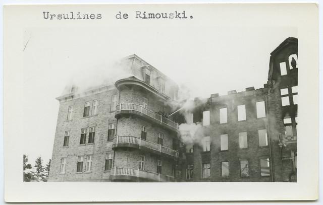 Incendie chez les Ursulines de Rimouski