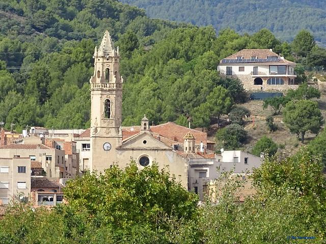 Baix Camp'20 (07-10) -01- Ruta Bici Maspujols-Reus -05- Maspujols 03 Esglèsia Parroquial de Santa Maria 01