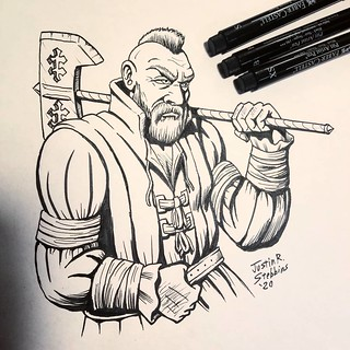 Inktober: Zoltan Chivay | by Saber-Scorpion