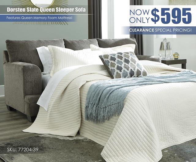 Dorsten Slate Sleeper Sofa Special_77204-39