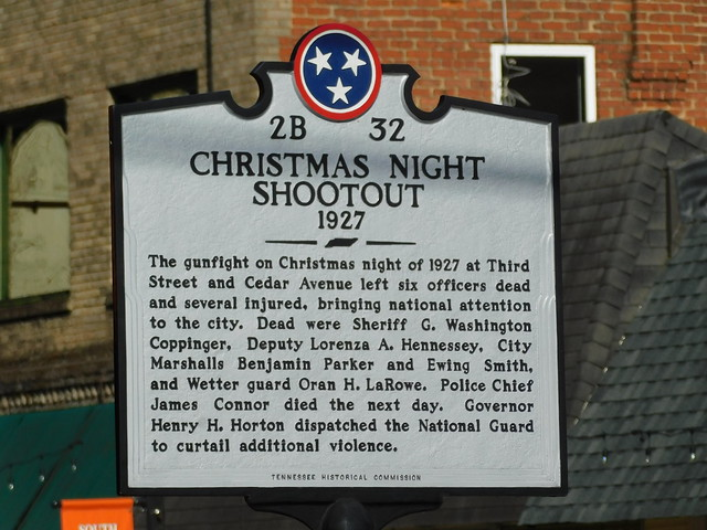 Christmas Night Shootout 1927 Historic Marker