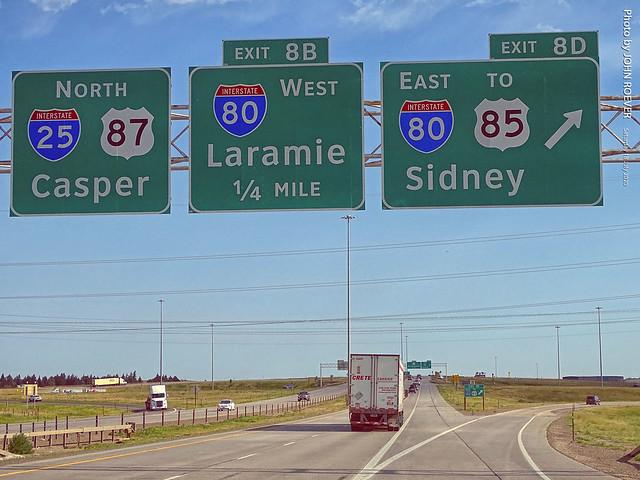I-25/I-80 Interchange near Cheyenne, 18 July 2020