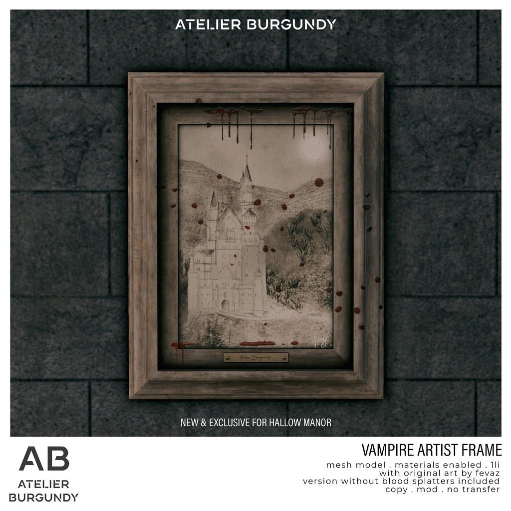 Atelier Burgundy . Vampire Artist Frame