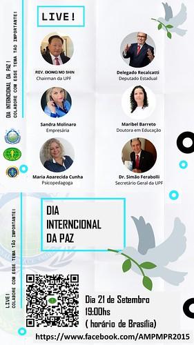 Brazil-2020-09-21-UN International Day of Peace Honored in UPF-Brazil Webinar