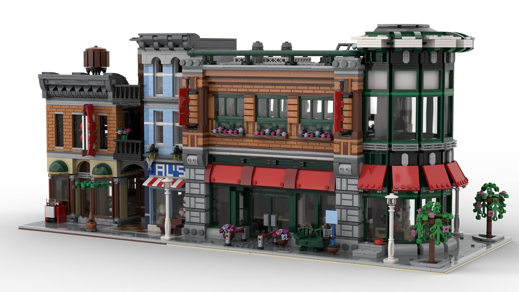 Lego Detective's Office and Concession Corner MOC