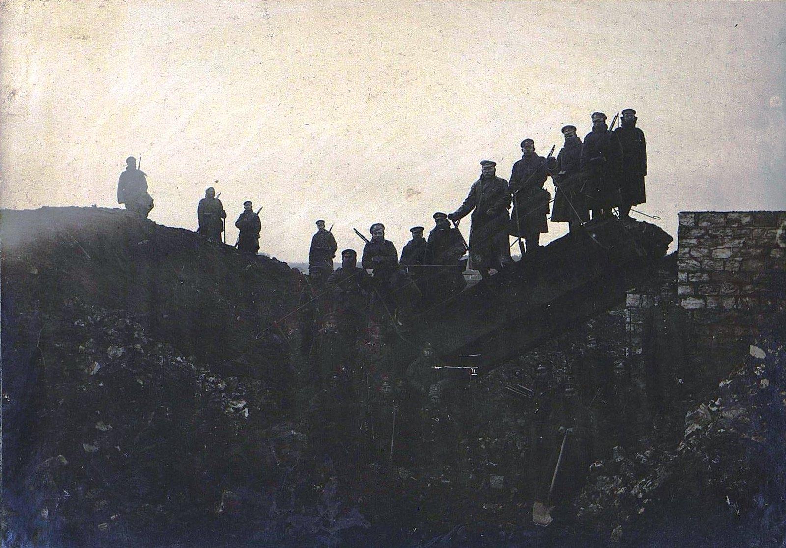 20. Мост на 95-й версте после взрыва подрывной командой 10-го железнодорожного батальона