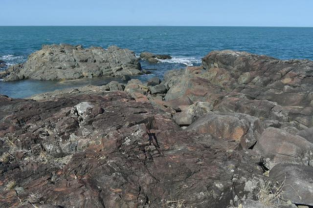 Dolerite and andesite, Grasstree Beach headland, near Sarina, QLD, 23/09/20