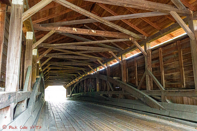 Inside Pleasantville Covered Bridge