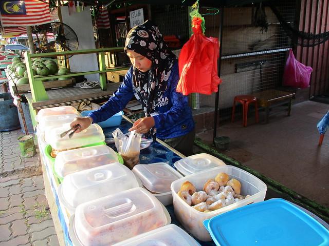 Kuih stall at Bandong