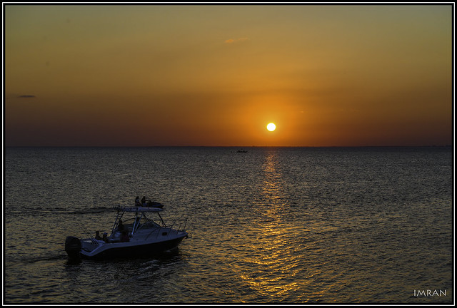 Imperfectly Timed Perfect Tranquility Of Tampa Bay Boating And A Florida Sunset - IMRAN™