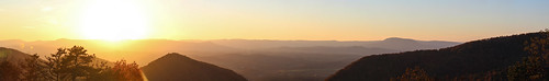 sunset panorama photostitch lexington virginia va fw fire will photography photo mountains horizon skyline landscape nature appalachian blue ridge parkway overlook scenic canon