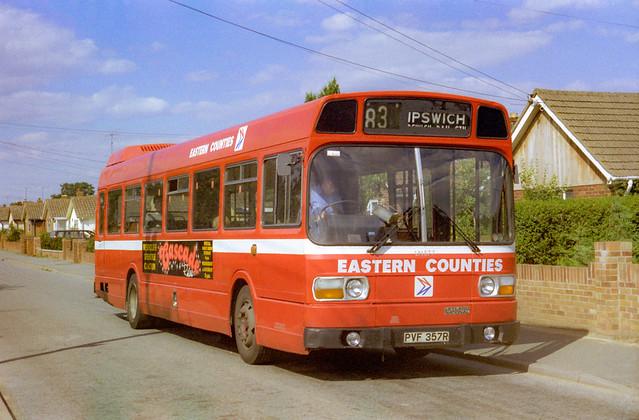 Eastern Counties LN577 (PVF357R) Kesgrave 1986