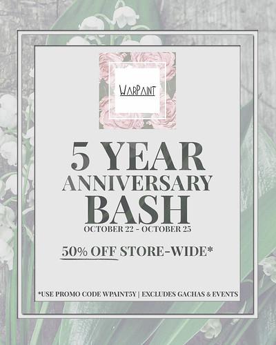 ♥♥♥ WarPaint* 5 Year Anniversary Bash ♥♥♥