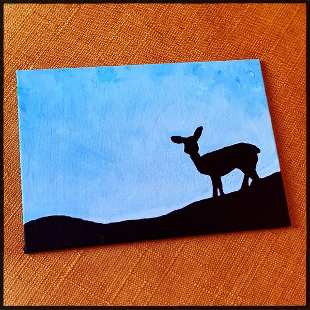 Doe Silhouette Painting