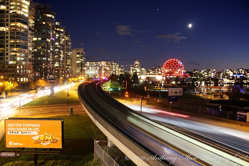 East False Creek Skytrain Blue Hour