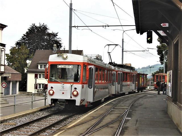 Trogenbahn Railway at Trogen  - Switzerland.