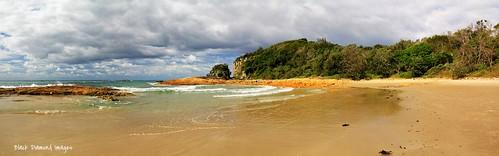 diamondhead beach diamondheadbeach australianbeaches nsw crowdybaynationalpark midnorthcoast australia msice panoramastitch panorama pano msicestitch msicepanorama landscape