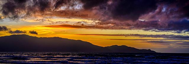 Kapiti Island Silhouette