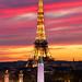 La Tour Eiffel depuis la place de la Concorde